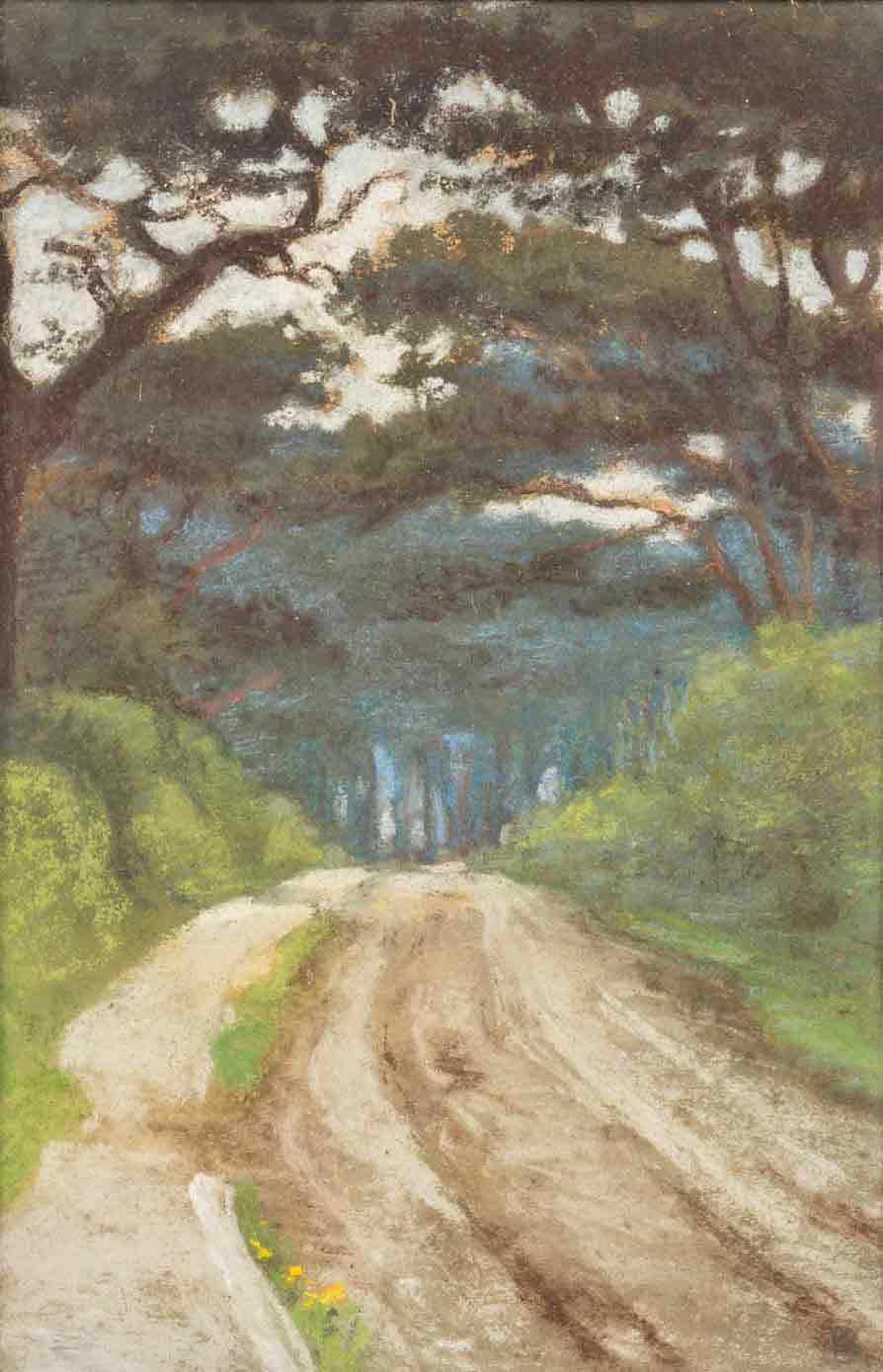 Alice Des Clayes Pastel 'Strawberry Woods - Clevedon, Somerset'