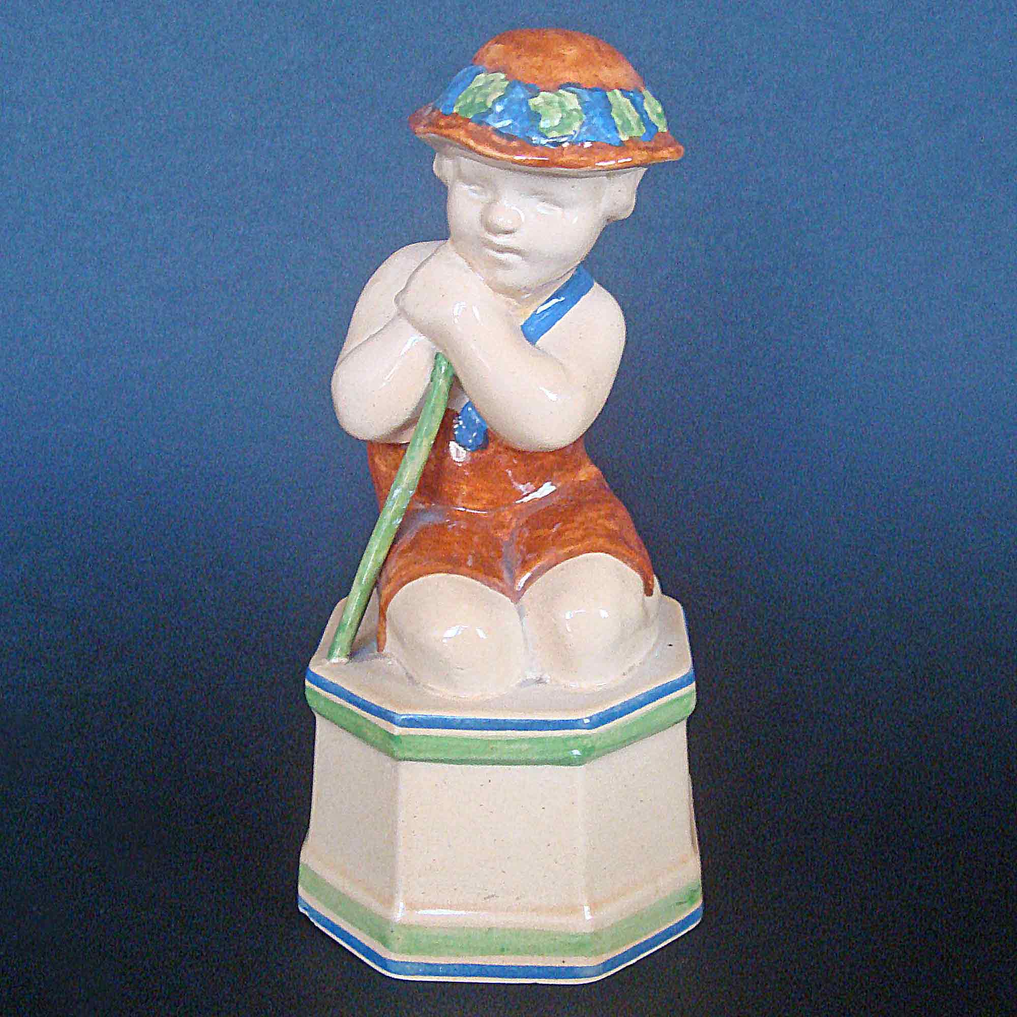 Ashtead Potters M38 Child With Stick - Brown Costume