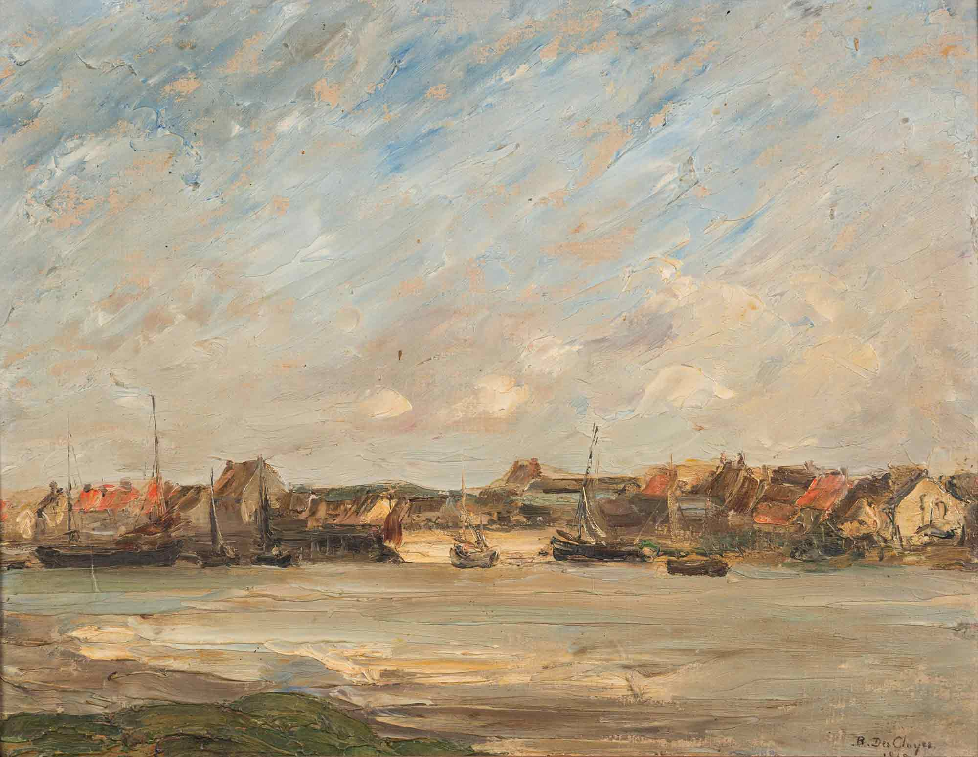 Berthe Des Clayes Oil 'Fishing Port'