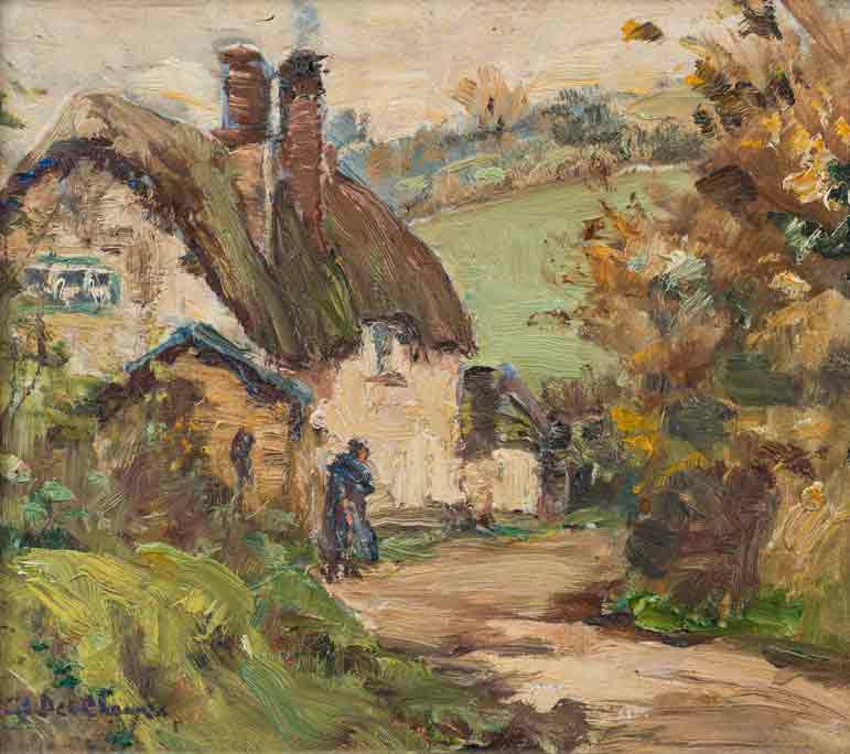 Berthe Des Clayes Oil Painting 'Country Lane'