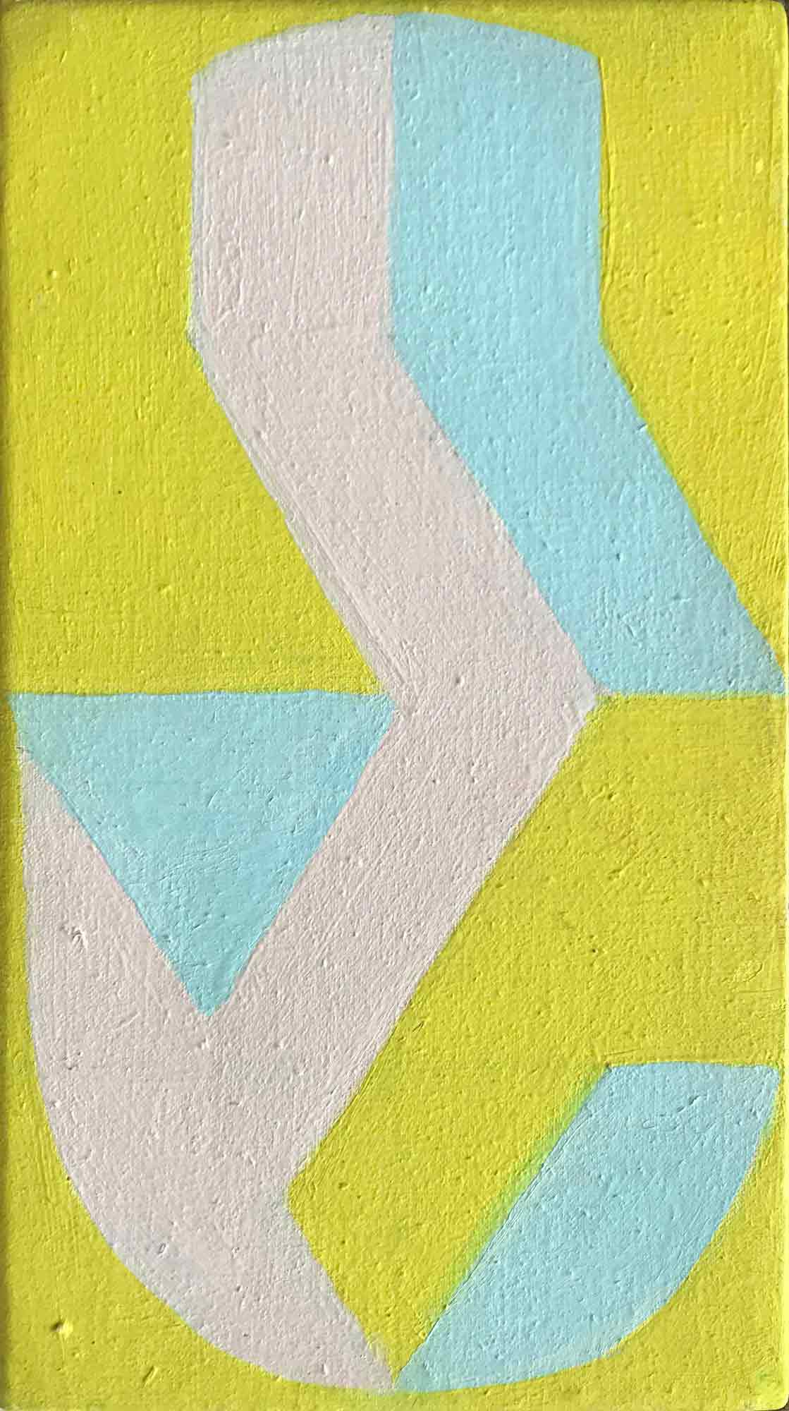 Margaret Mellis 'Fragmented Oval - Yellow, Blue, Pink'