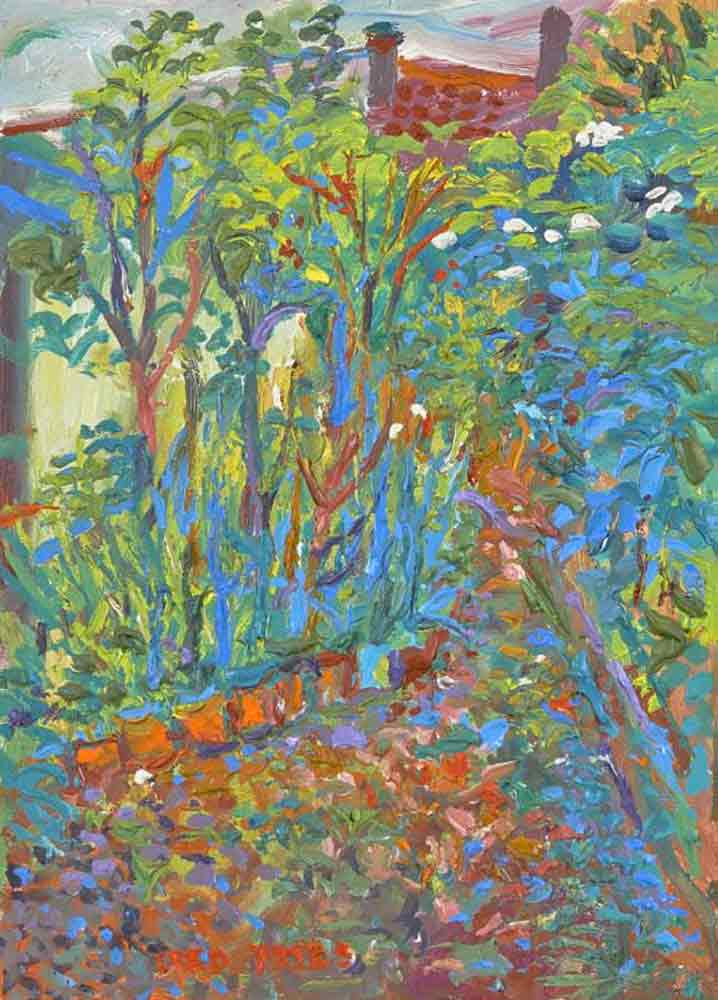 Fred Yates Painting 'Garden'