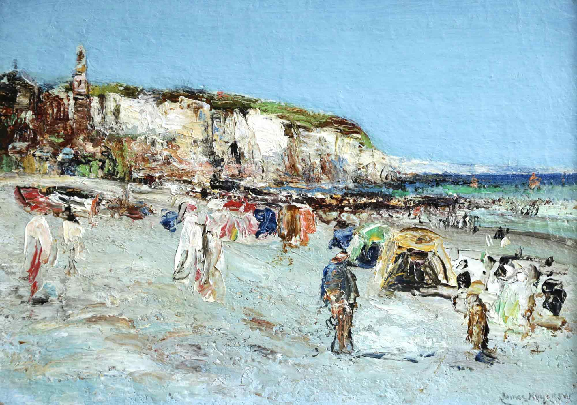 James Kay Oil Painting 'Bathers at Dieppe'