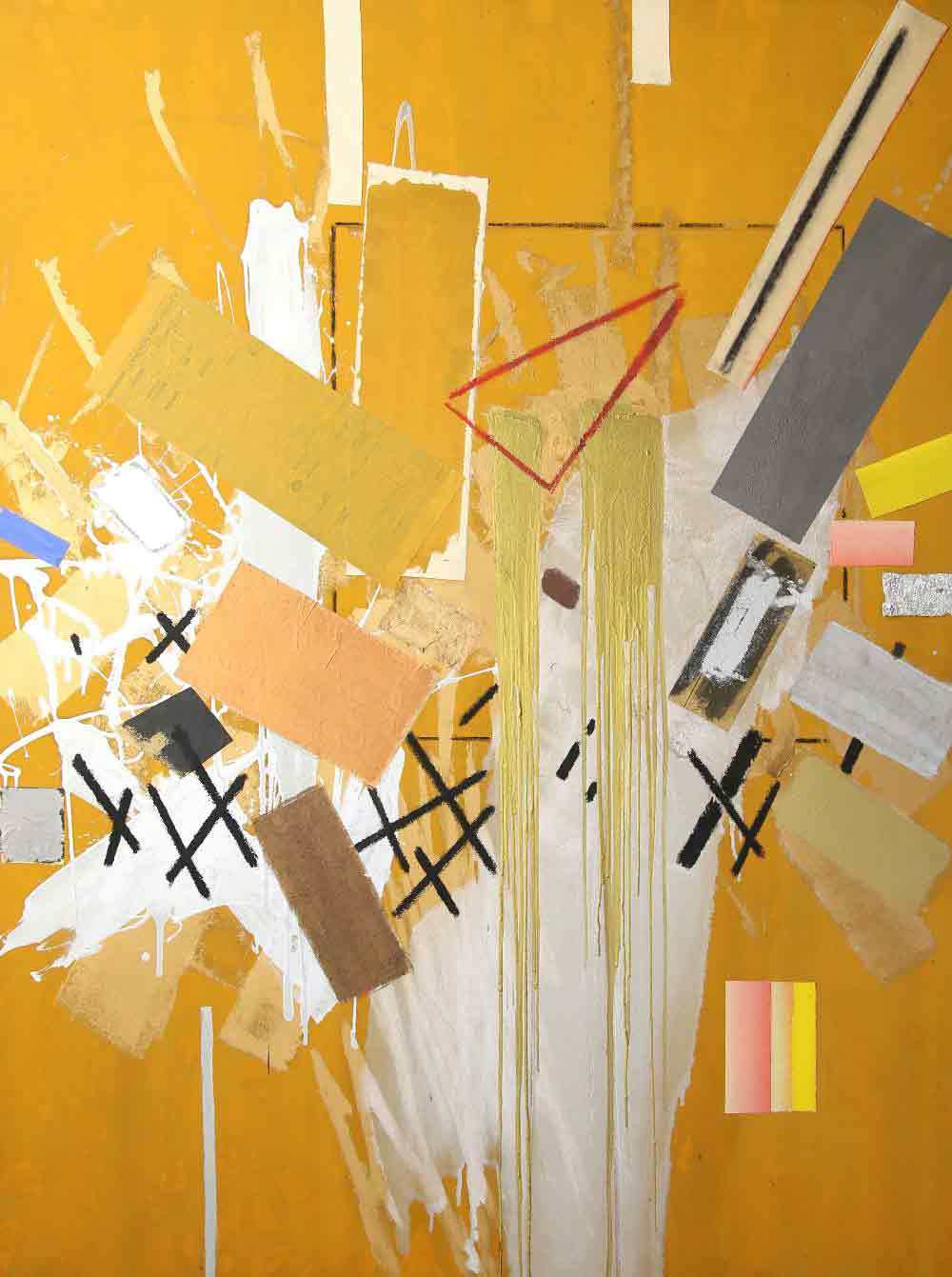 John Copnall Abstract Mixed Media on Canvas 1983