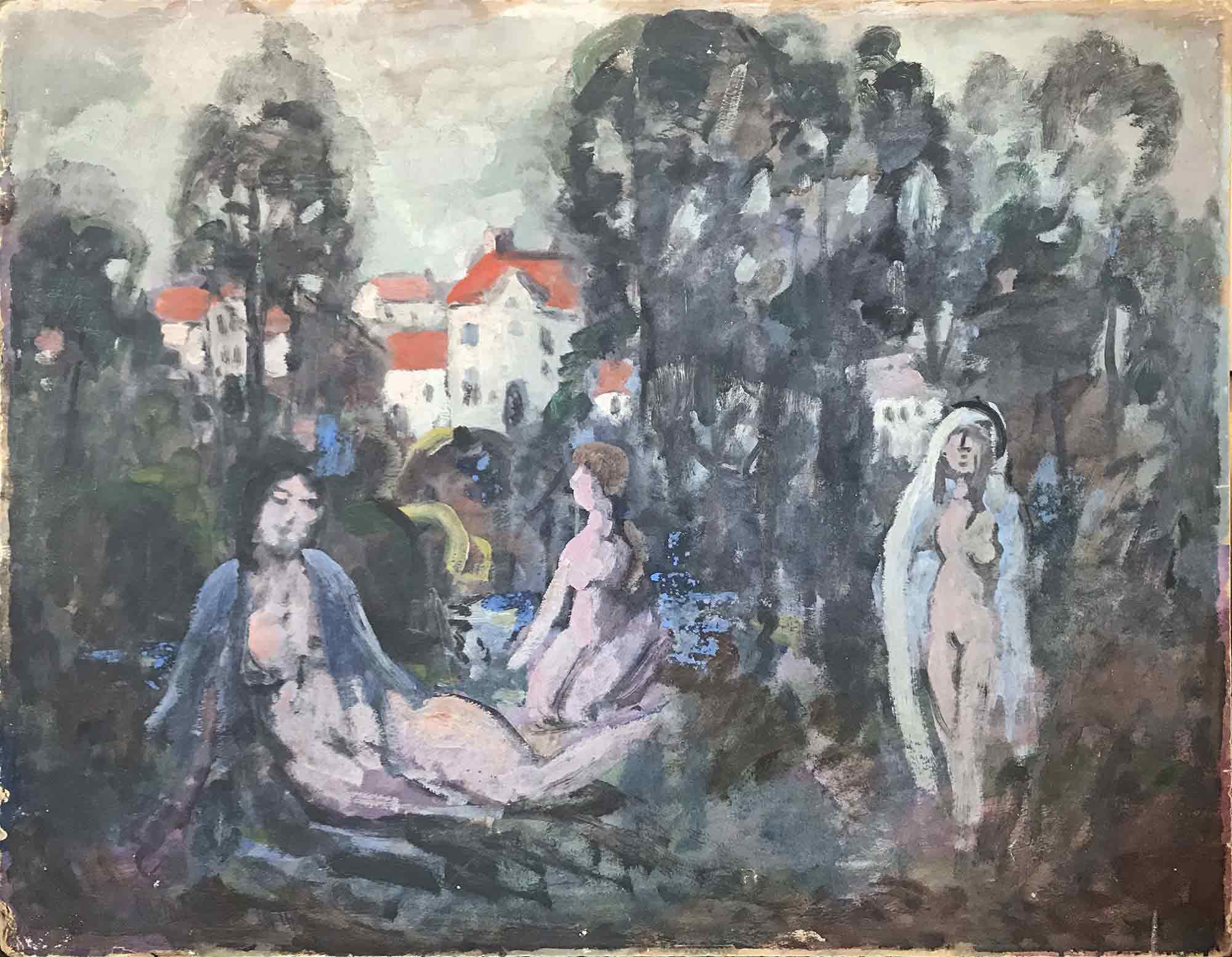Phelan Gibb 'Naked Figures in a Woodland Scene'